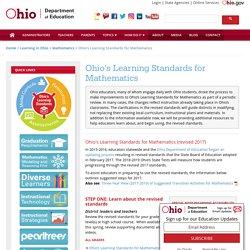 Ohio Learning Standards for Mathematics