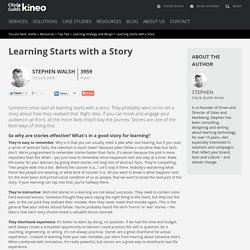 Tip 1: Learning starts with a story