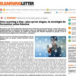 One Learning a Day : plus qu'un slogan, la stratégie de formation selon Danone