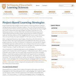Project-Based Learning Strategies