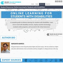 Online College Learning for Students with Disabilities