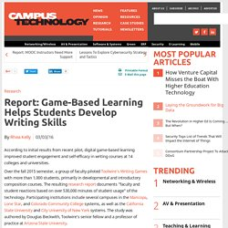 Report: Game-Based Learning Helps Students Develop Writing Skills