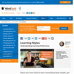 Learning Styles - Learning skills from MindTools.com