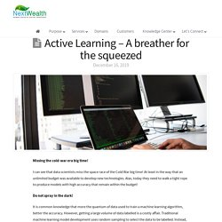 Active Learning Blog - By Sugathan R