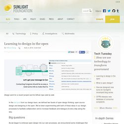 Learning to design in the open