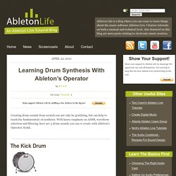 Learning Drum Synthesis With Ableton's Operator