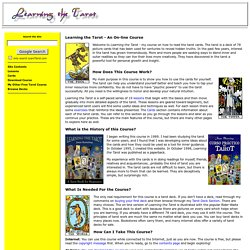 Learning the Tarot - An On-Line Course