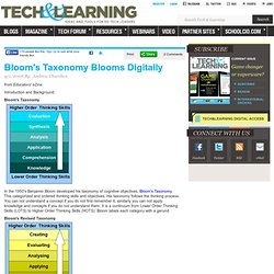 Bloom's Taxonomy Blooms Digitally, Andrew Churches