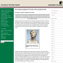 Learning & Teaching Bulletin