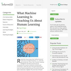 What Machine Learning Is Teaching Us About Human Learning - InformED