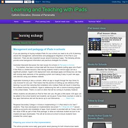 Management and pedagogy of iPads in schools