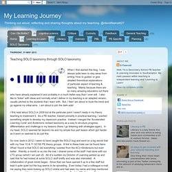 Teaching SOLO taxonomy through SOLO taxonomy