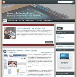 Learning Technology Plan » Supporting learning with technology in the SVVSD