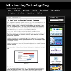 10 Tech Tools for Teacher Training Courses