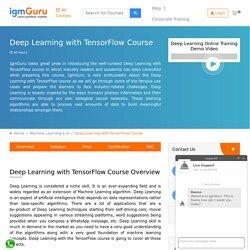 Deep Learning With TensorFlow Course - IgmGuru