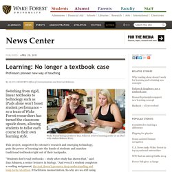 Learning: No longer a textbook case