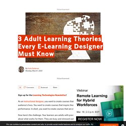 3 Adult Learning Theories Every E-Learning Designer Must Know