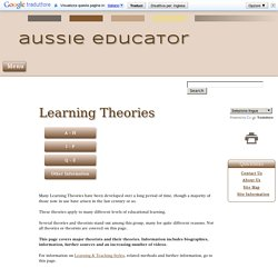 Learning Theories & Theorists