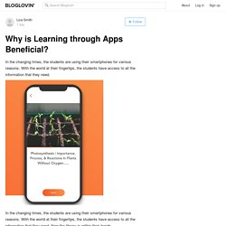 Why is Learning through Apps Beneficial?