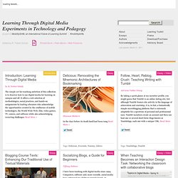 Learning Through Digital Media