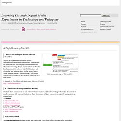 A Digital Learning Tool Kit