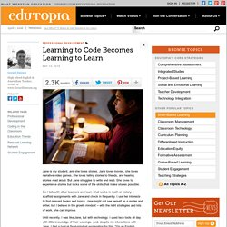 Learning to Code Becomes Learning to Learn