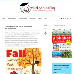 Fall Learning Pack for Toddlers & Preschoolers