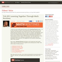 Tch DIY: Learning Together Through Math Routines