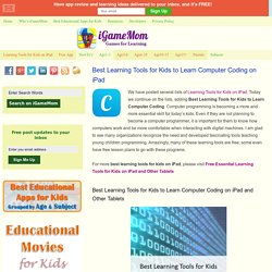 Best Learning Tools for Kids to Learn Computer Coding on iPad