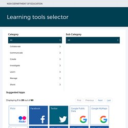 Learning tools selector
