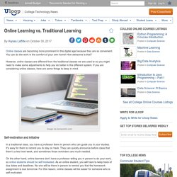 Online Learning vs. Traditional Learning