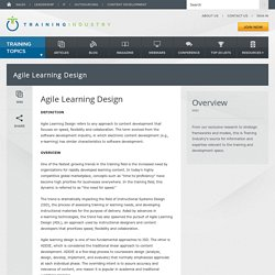 Agile Learning Design