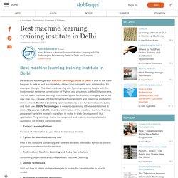Best machine learning training institute in Delhi