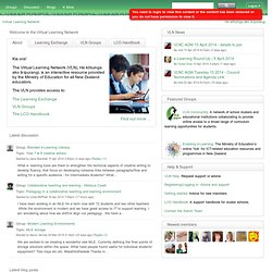 Virtual Learning Network: Snapshot: Blogger, Wikispaces, Kidblog and iPads