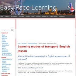 Learning transport - modes - English lesson