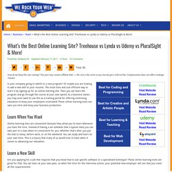 What's the Best Online Learning Site? Treehouse vs Lynda vs Udemy vs PluralSight & More!