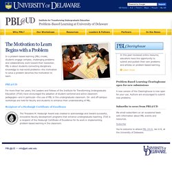 Problem-Based Learning at University of Delaware