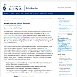 University of Toronto Online Learning Strategies