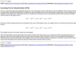 Learning Vector Quantization (LVQ)