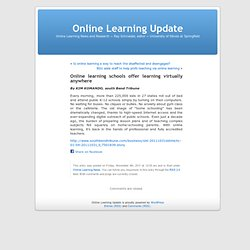 Online learning schools offer learning virtually anywhere