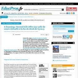 E-learning : Second Life offre une salle de cours virtuelle à la fac de droit de Lyon 3