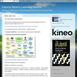 Cammy Bean's Learning Visions: The Two Faces of ePortfolios