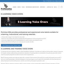 E-Learning Voice Over