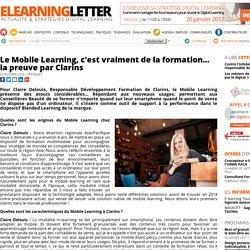 Le Mobile Learning, c'est vraiment de la formation la preuve par Clarins