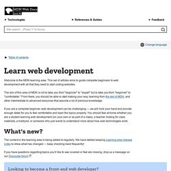 Learning the Web