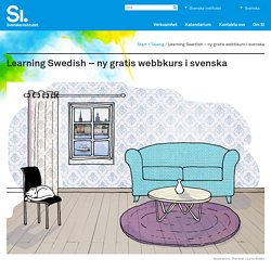 Learning Swedish – ny gratis webbkurs i svenska