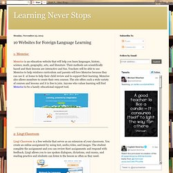 10 Websites for Foreign Language Learning