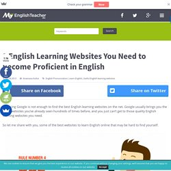 8 English Learning Websites You Need to Become Proficient in English