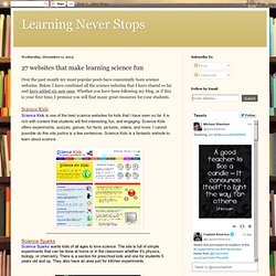 27 websites that make learning science fun