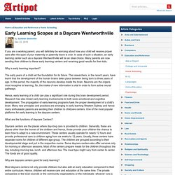 Early Learning Scopes at a Daycare Wentworthville
